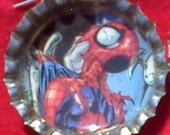 Spiderman bottle cap necklace
