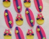 Fondant Cupcake Toppers - Flip Flops, Surfboards - Flip Flop Toppers - Surfboard Cupcake Toppers