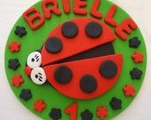Fondant Cake Topper - Red Ladybug
