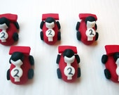 Fondant Cupcake Toppers - Race Cars - 3D