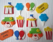 Fondant Cupcake Toppers - Carnival Mix