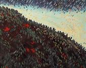 MOON Over Turner Falls - original oil painting 16x20