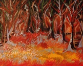 FOREST SUNSET - original oil painting 20x16