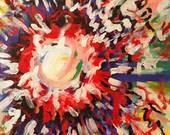 SPUTNIK - original acrylic painting 16x20