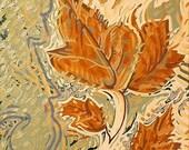 LEAVES IN WATER - original oil painting 16x20