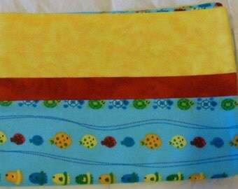 Fish Turtles Snuggly Soft Flannel Standard Size Pillowcase
