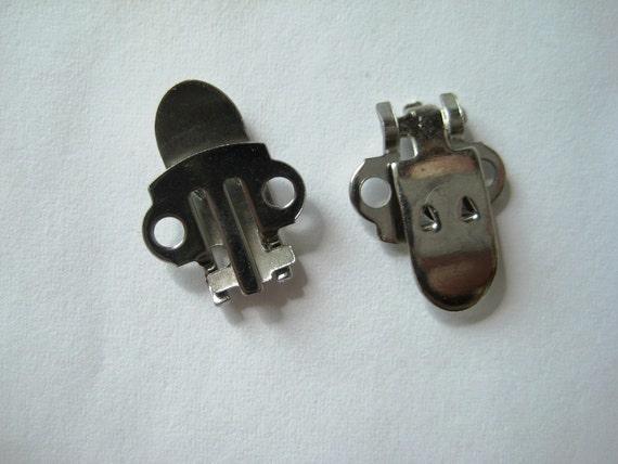24 Metal Blank Shoe Clips (12 pairs)