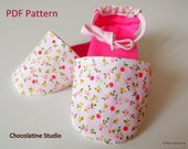 Sewing Pattern French Style Baby Sandals PDF pattern Easy Sewing 0-3 m to 9 m - Instant Download