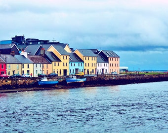 Houses on Galway Bay Photograph