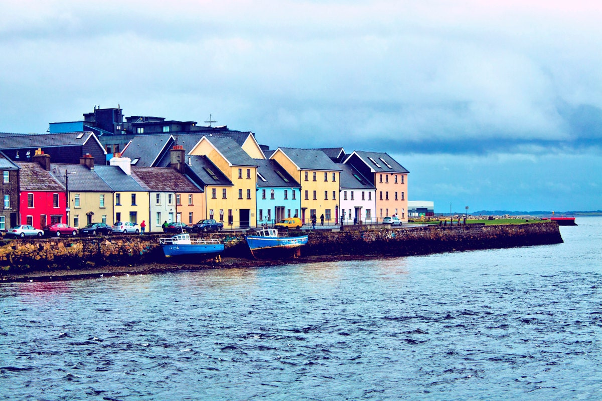 Houses on Galway Bay Photograph by ski22 on Etsy: https://www.etsy.com/listing/90680895/houses-on-galway-bay
