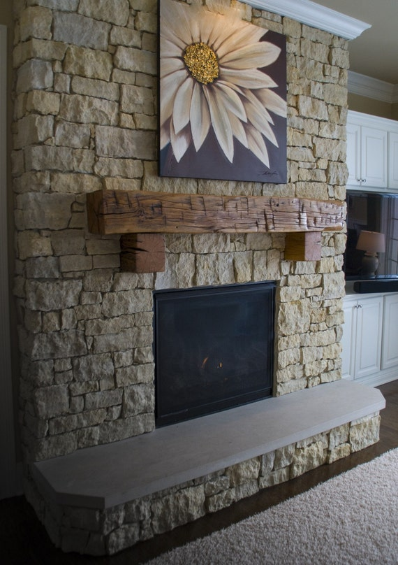 Antique Reclaimed 4Side Hand Hewn Barn Beam by GreenNation2010