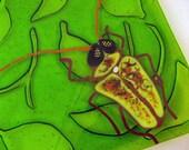 Magic Mushroom Beetle Fused Glass Dish