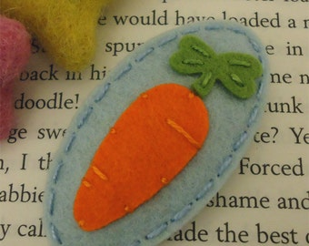 Felt hair clips, Felt carrot, Baby girl, Hair accessories, Felt hair bows, School hair clips, Wool felt, Hair barrettes, Girls gift