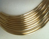Curved tube 100x3mm 10pk Gold Plated
