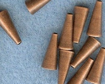12mm End Cones NICKEL FREE 10pk Antique Copper Plated