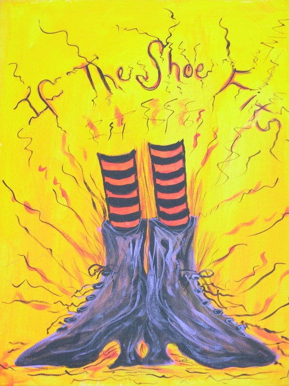 If the Shoe Fits Halloween Samhain Art Print Witch Witches Bewitched Oz