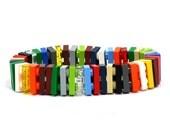 Small flat LAS VEGAS bracelet made with LEGO® bricks