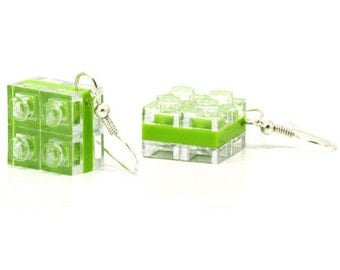 Diamond earrings made with LEGO bricks, free shipping worldwide, 16 colors
