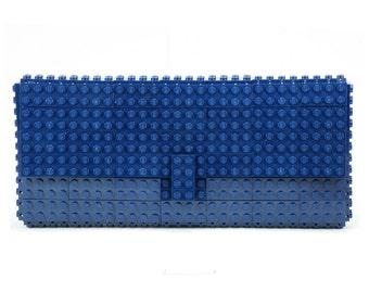 Dark blue clutch purse made with LEGO® bricks FREE SHIPPING purse handbag legobag trending fashion lego