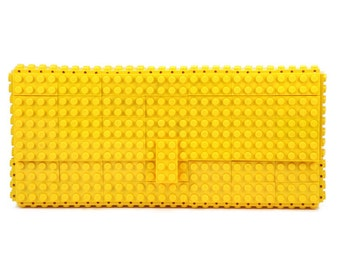 Yellow clutch purse made with LEGO® bricks FREE SHIPPING purse handbag legobag trending fashion lego
