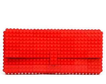 Red clutch purse made with LEGO® bricks FREE SHIPPING purse handbag legobag trending fashion lego