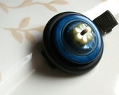 VINTAGE Celestial Flower Button hair clip