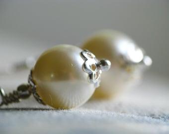 Cream Swarovski Crystal Pearl Drops