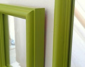 Spring Green Mirror Set in Vintage Wood Frames