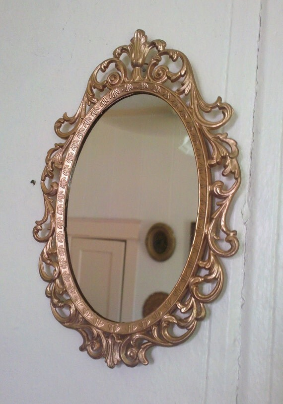 fairy princess mirror vintage frame in rose gold 8 by 55 inches