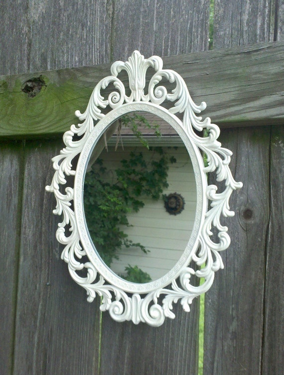 Fairy Princess Wall Mirror - 13 by 10 in True White