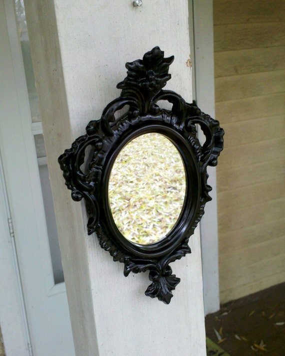 Black Wall Mirror - Revived Vintage Regency Frame