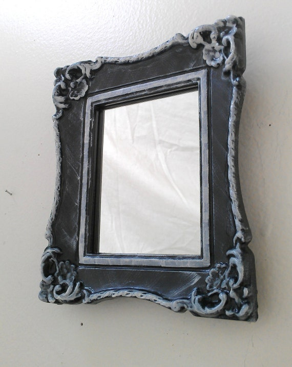 baroque wall mirror in vintage frame black by