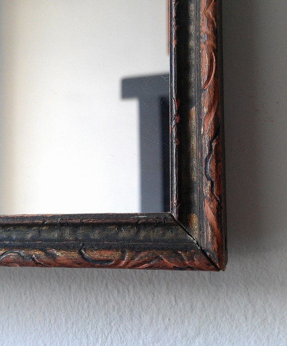 Decorative Wall Mirror in 1920s Art Deco Wood Frame