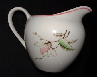 Vintage Meakin English Staffordshire Creamer in Blossom Lane Pattern