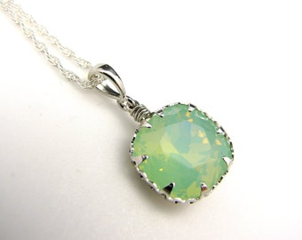 Pendant only - silver shade, chrysolite opal, graphic goldend shadow pendant