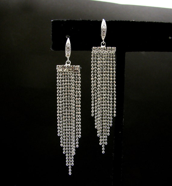 Silver ball chain earrings with sterling silver hook with cz- Free US shipping