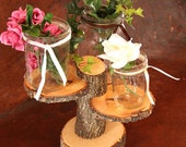 3-Tiered Rustic Wedding Decor Tree Mason Jar / Candle Stand Table Center Piece Holder