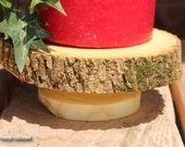 Rustic Log Stand Wedding Decor Candle Holder Statue Table Centerpiece Display