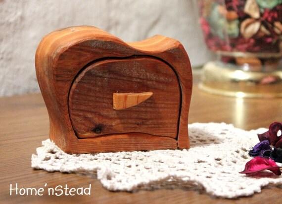 Pretty Little Jewelry Drawer Bandsaw Box Ceder Wood Box