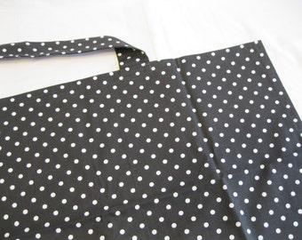 Black and White Polka Dot Nursing Cover