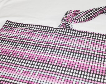 Black and Pink Dots Nursing Cover