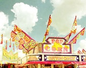 Pop Corn, Cotton Candy and Cold Drinks - vintage inspired carnival photograph 8x10