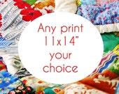 Custom 11x14 print - Your choice fine art photograph - affordable wall decor - floral artwork - carnival rides photography - travel photos