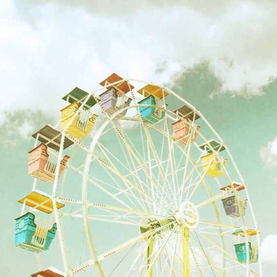 Ferris Wheel 20x20 Vintage Inspired Photography Print