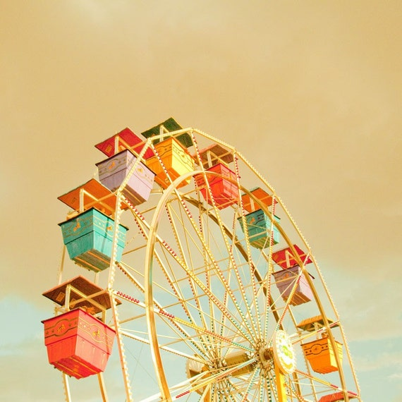 Ferris Wheel III - 10x10 Fine Art Photography Print