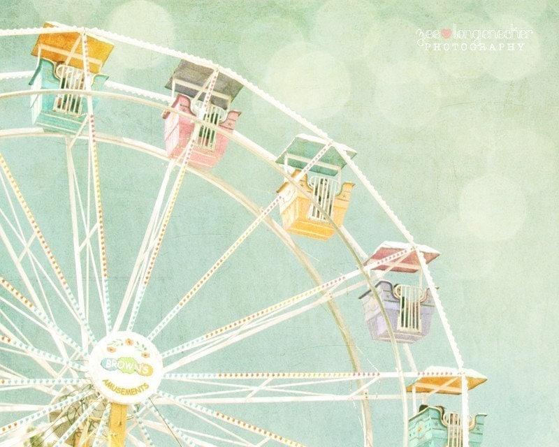 Ferris Wheel II 8x10 Vintage Inspired by ZilaLongenecker ...