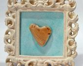Love, Heart, Shell, Turquoise, Shabby Chic, Beach