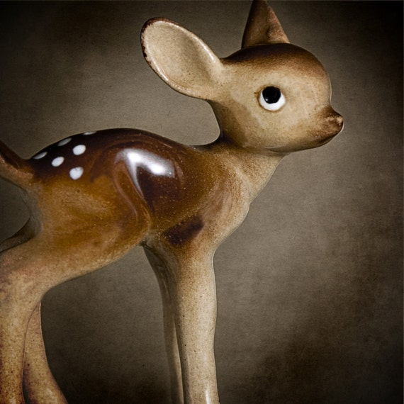 Lovely Porcelain Deer - 8x8 Fine Art Print
