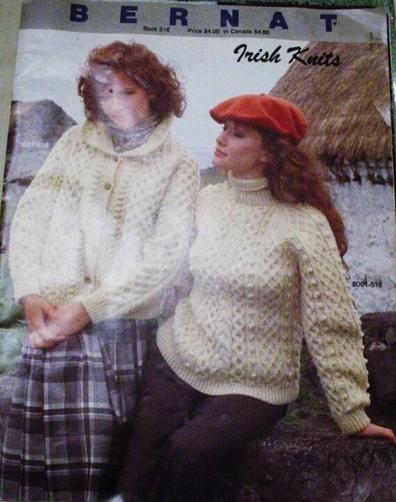 Irish Knitting Pattern Books : VINTAGE BERNAT IRISH KNITS KNITTING PATTERN BOOK