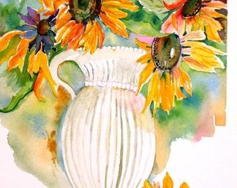 Sunflowers Sunny Bouquet Greeting Card